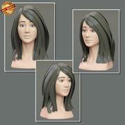 여성 초상화 3d model