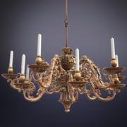 real-time baroque chandelier 3d model