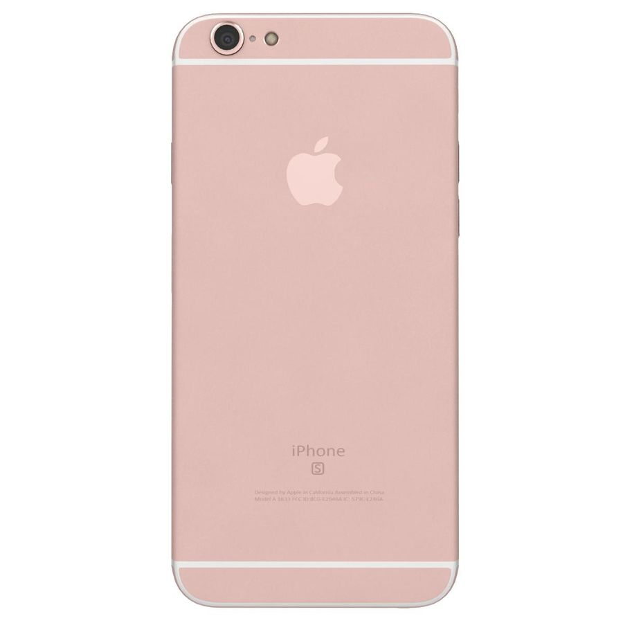 Apple iPhone 6s Rose Gold royalty-free 3d model - Preview no. 8