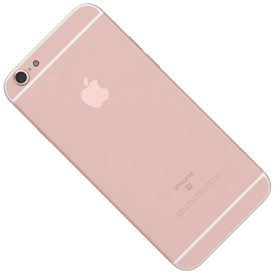 Apple iPhone 6s Rose Gold royalty-free 3d model - Preview no. 23