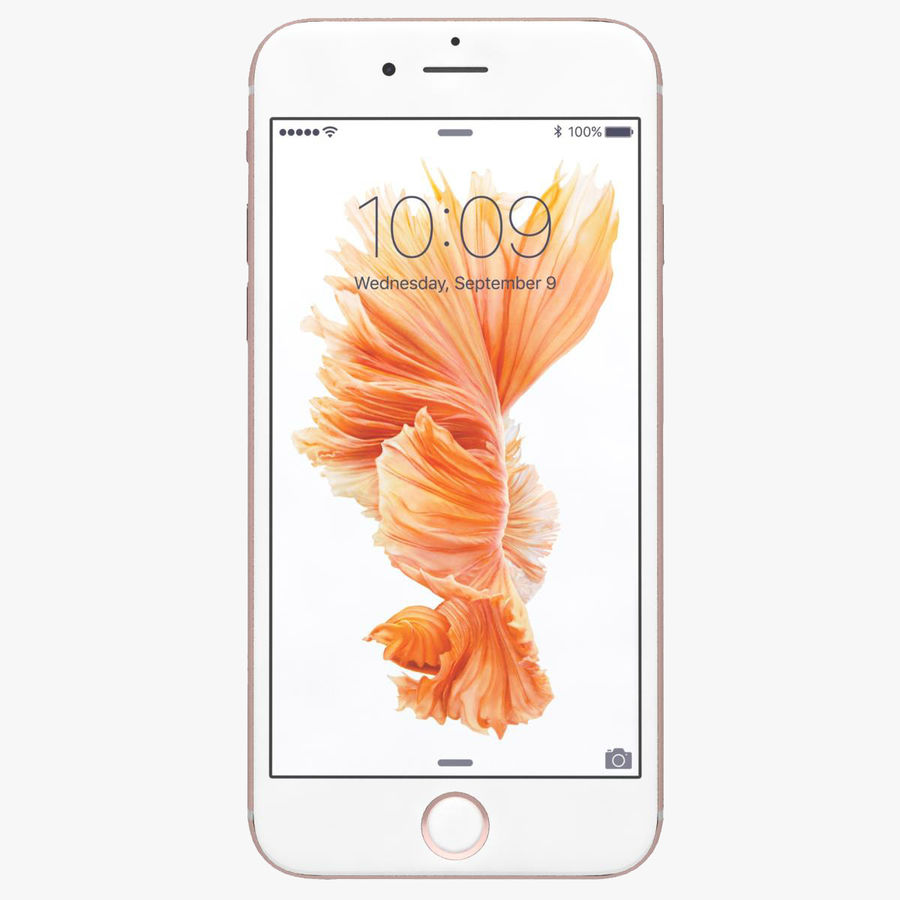 Apple iPhone 6s Rose Gold royalty-free 3d model - Preview no. 1