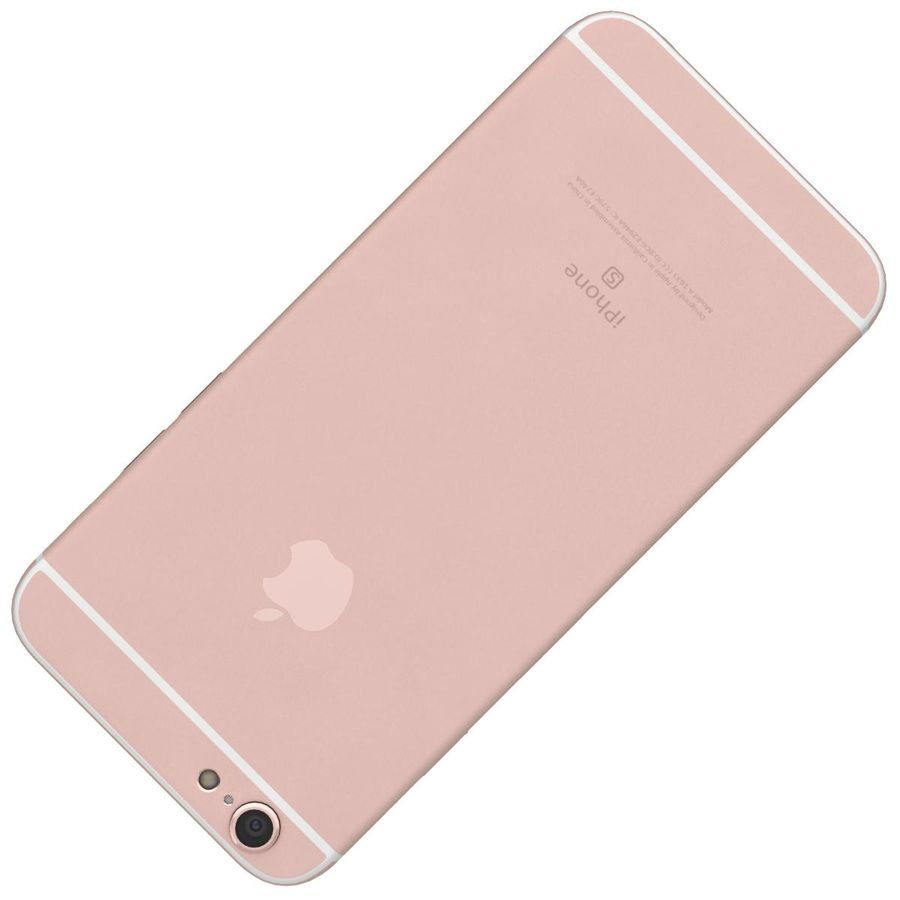 Apple iPhone 6s Rose Gold royalty-free 3d model - Preview no. 22