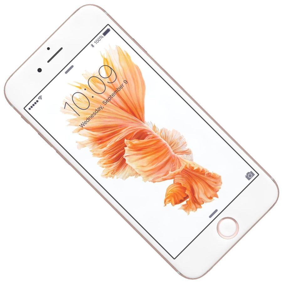 Apple iPhone 6s Rose Gold royalty-free 3d model - Preview no. 19