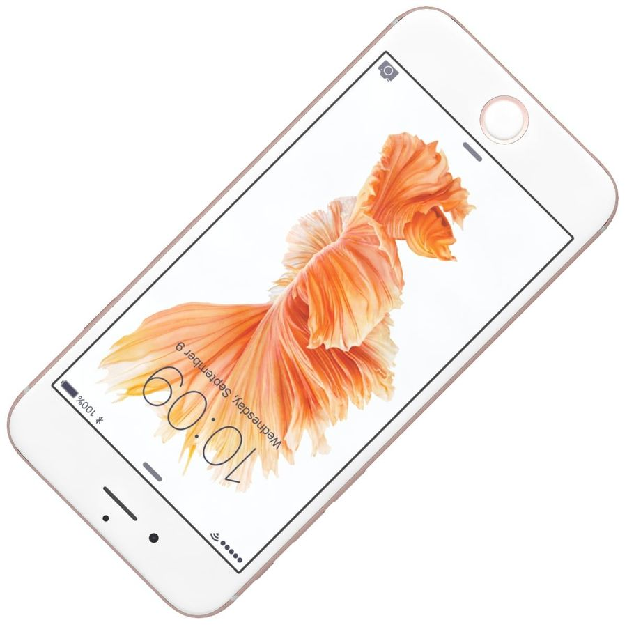 Apple iPhone 6s Rose Gold royalty-free 3d model - Preview no. 18