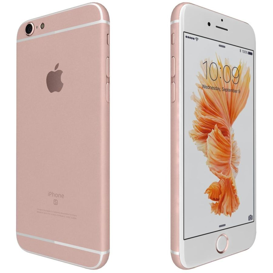 Apple iPhone 6s Rose Gold royalty-free 3d model - Preview no. 7