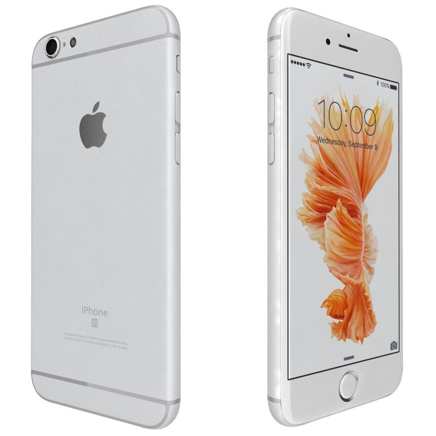 Apple iPhone 6s Prateado royalty-free 3d model - Preview no. 7