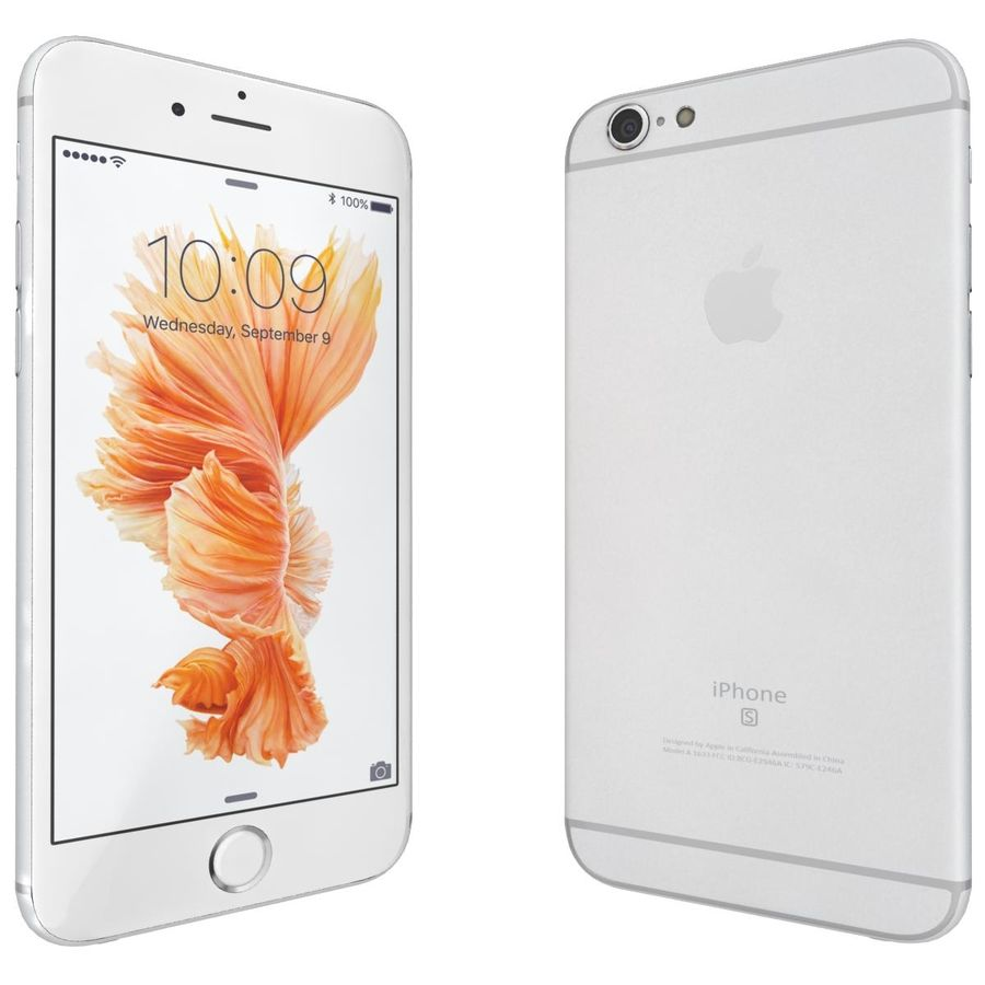 Apple iPhone 6s Prateado royalty-free 3d model - Preview no. 5