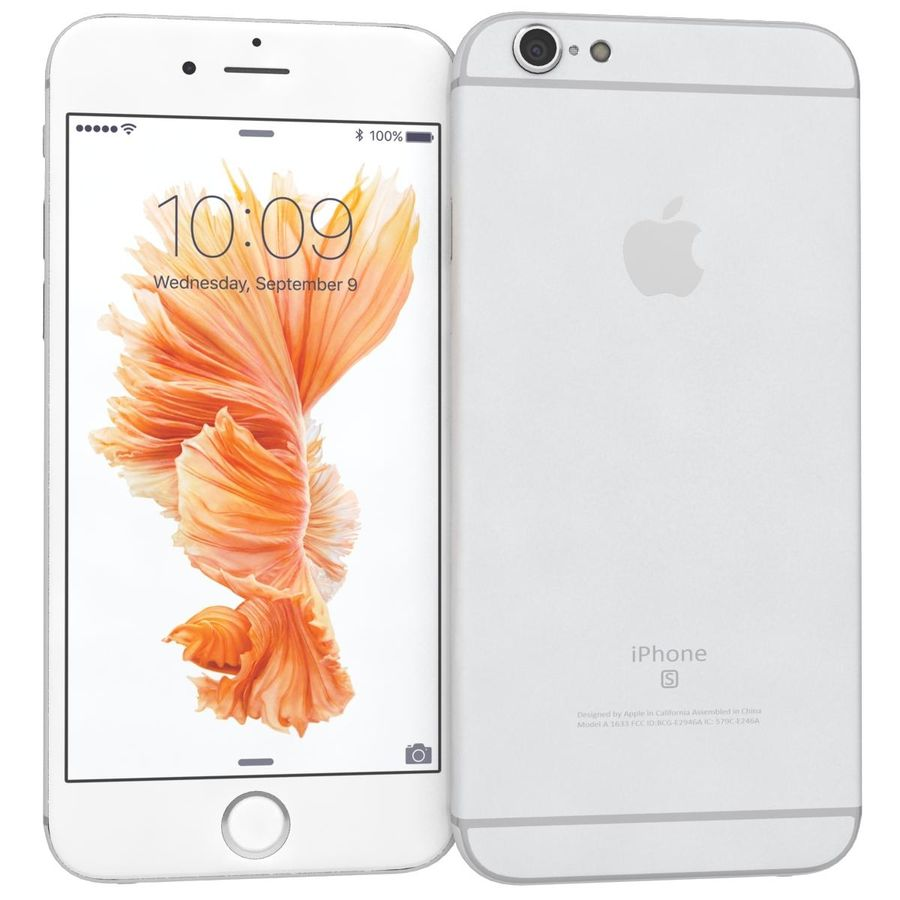 Apple iPhone 6s Prateado royalty-free 3d model - Preview no. 4