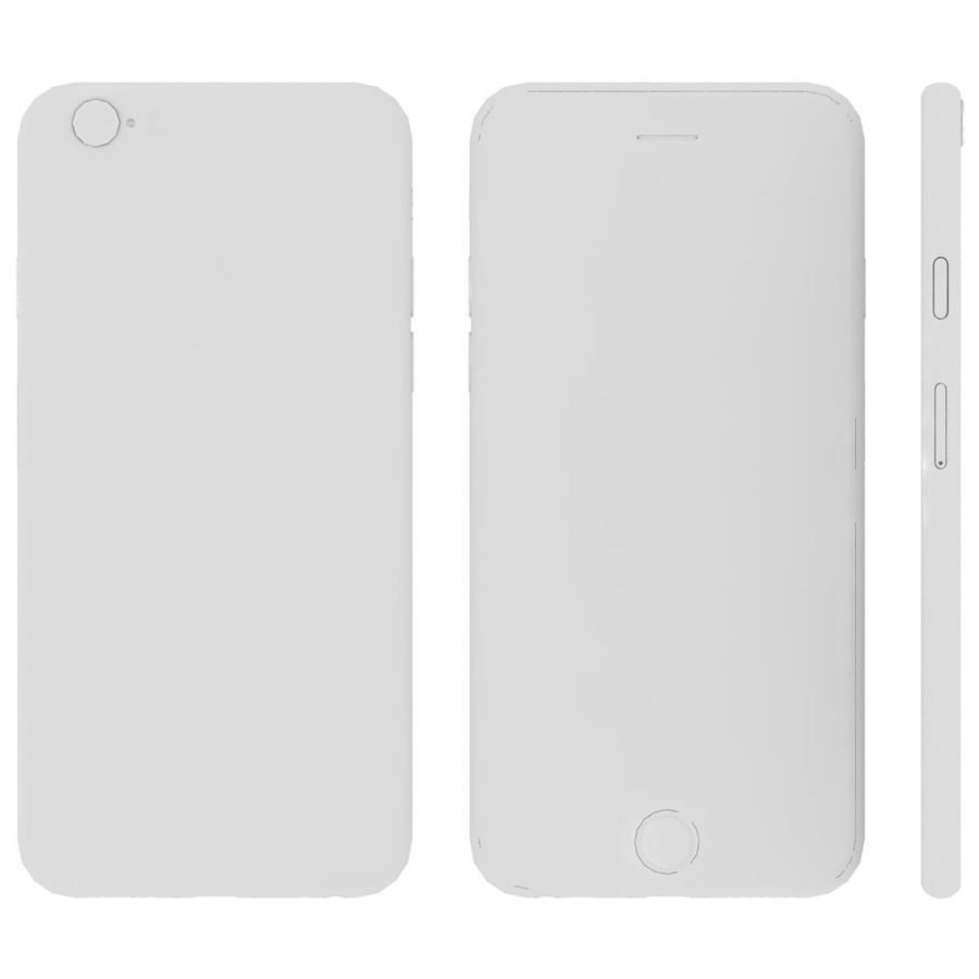Apple iPhone 6s Prateado royalty-free 3d model - Preview no. 25