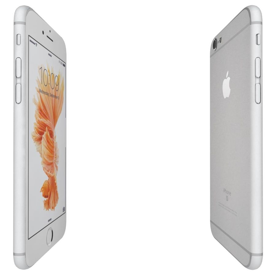 Apple iPhone 6s Prateado royalty-free 3d model - Preview no. 11