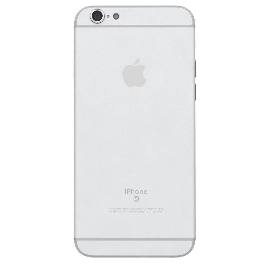 Apple iPhone 6s Prateado royalty-free 3d model - Preview no. 8