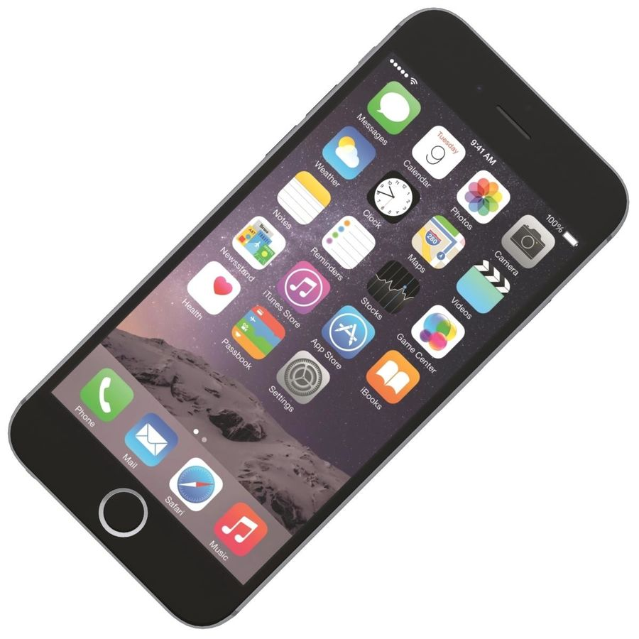 Apple iPhone 6s Space Gray royalty-free 3d model - Preview no. 16