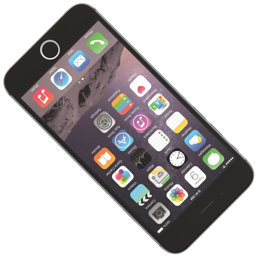 Apple iPhone 6s Space Gray royalty-free 3d model - Preview no. 17