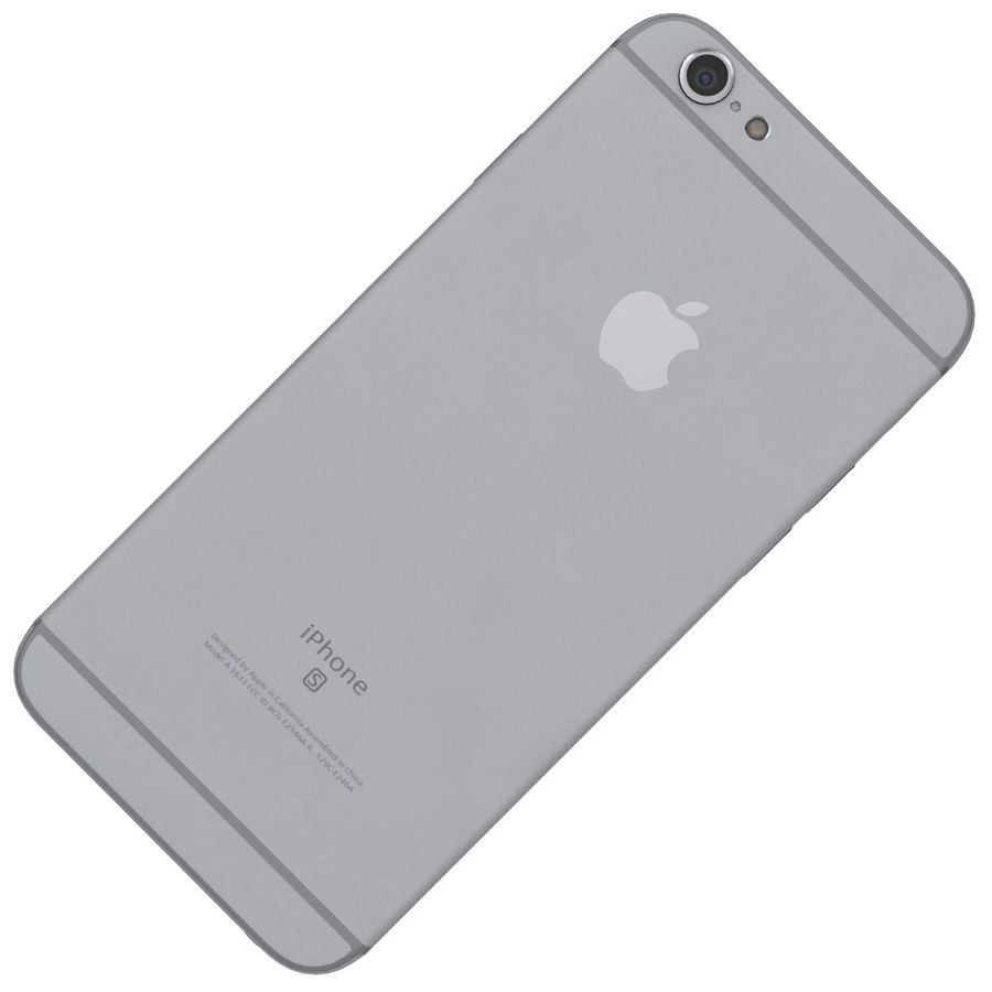 Apple iPhone 6s Space Gray royalty-free 3d model - Preview no. 20