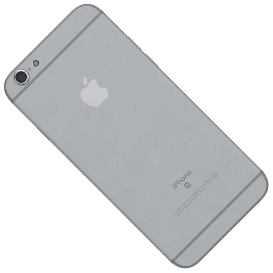 Apple iPhone 6s Space Gray royalty-free 3d model - Preview no. 23