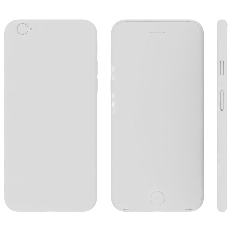 Apple iPhone 6s Space Gray royalty-free 3d model - Preview no. 27