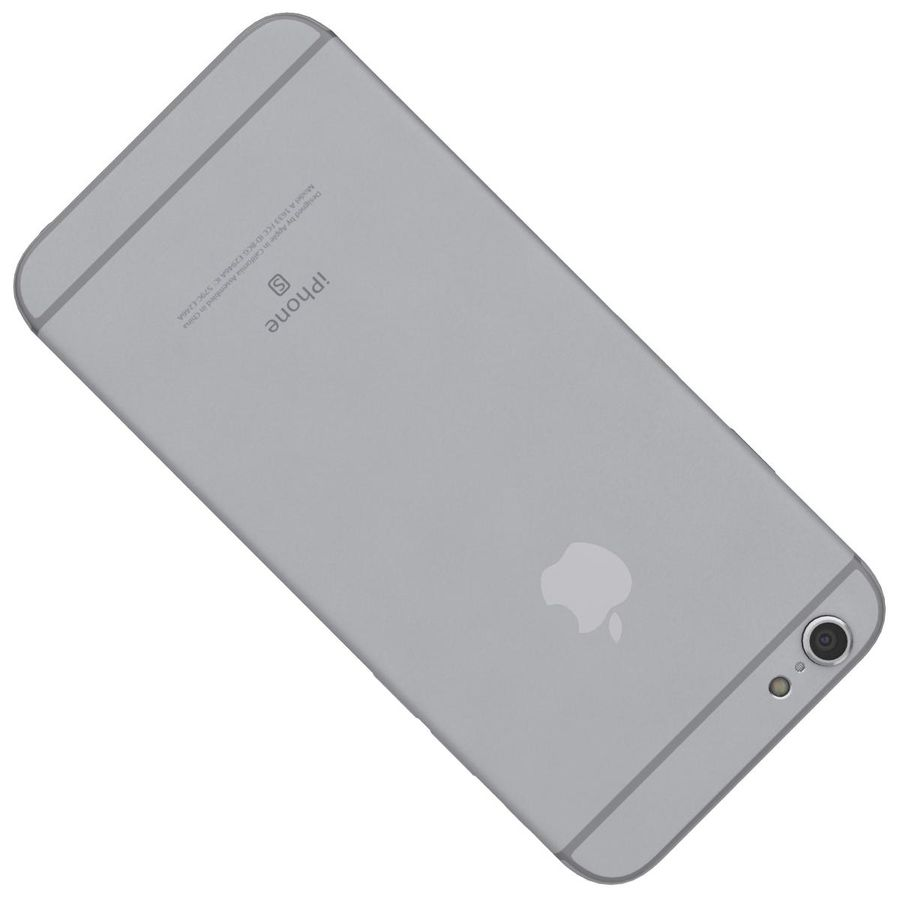 Apple iPhone 6s Space Gray royalty-free 3d model - Preview no. 21