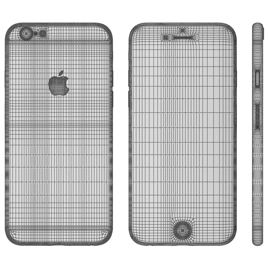 Apple iPhone 6s Space Gray royalty-free 3d model - Preview no. 26