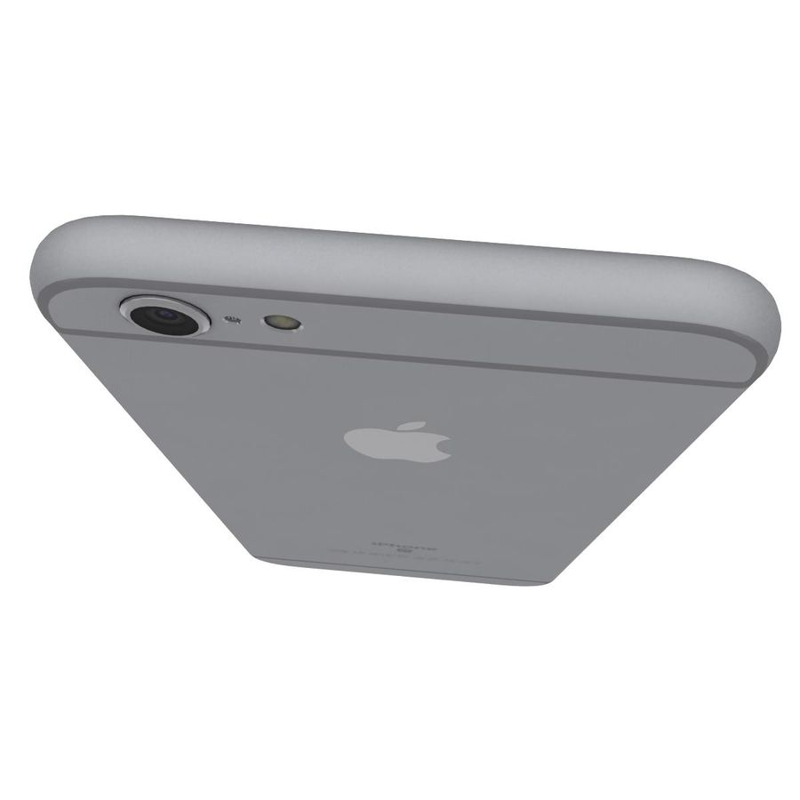 Apple iPhone 6s Space Gray royalty-free 3d model - Preview no. 13