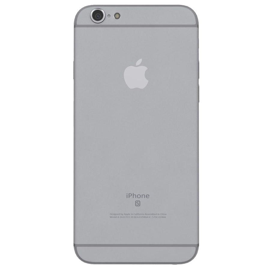 Apple iPhone 6s Space Gray royalty-free 3d model - Preview no. 8