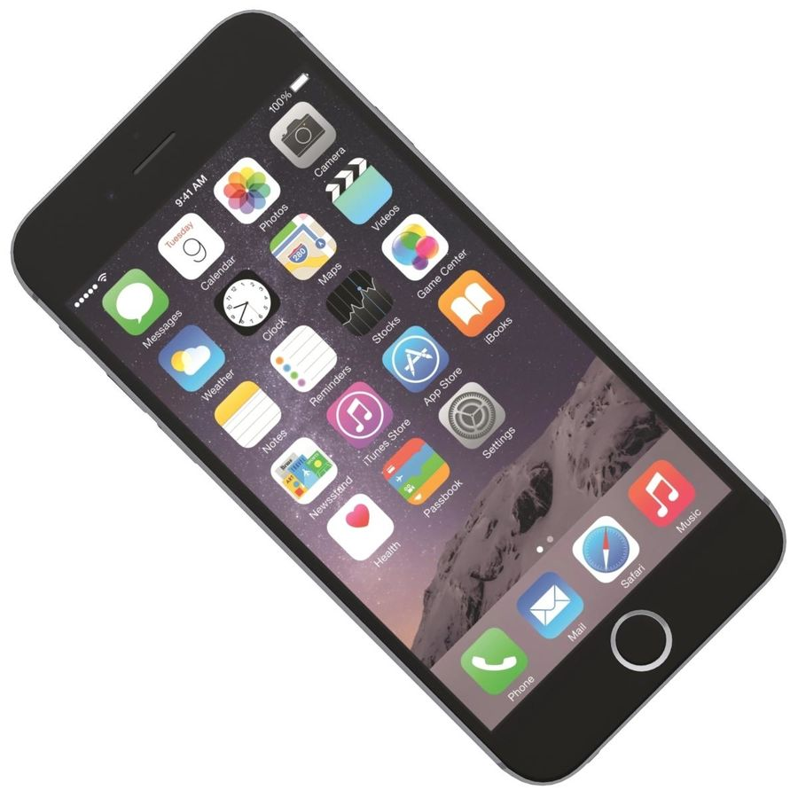Apple iPhone 6s Space Gray royalty-free 3d model - Preview no. 19
