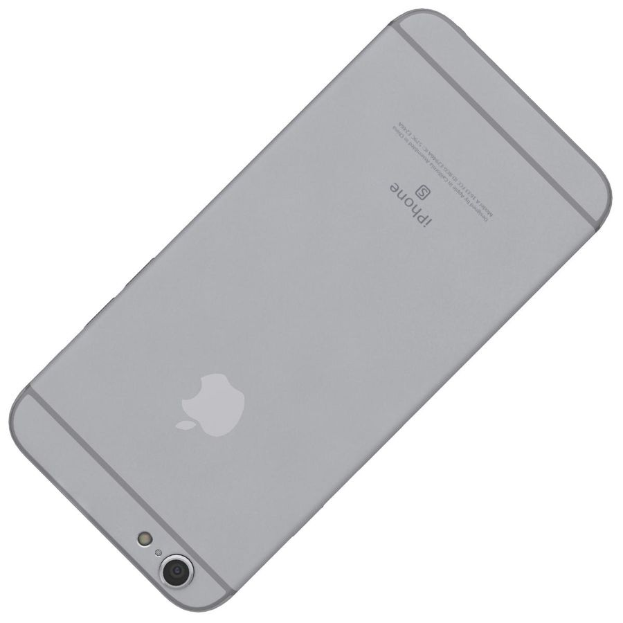 Apple iPhone 6s Space Gray royalty-free 3d model - Preview no. 22