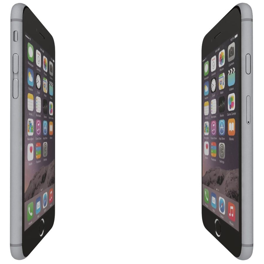 Apple iPhone 6s Space Gray royalty-free 3d model - Preview no. 11