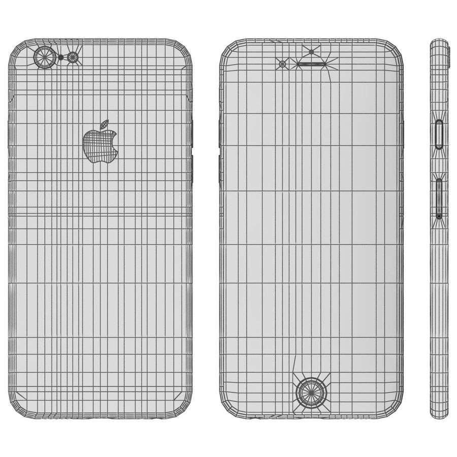 Apple iPhone 6s Space Gray royalty-free 3d model - Preview no. 24