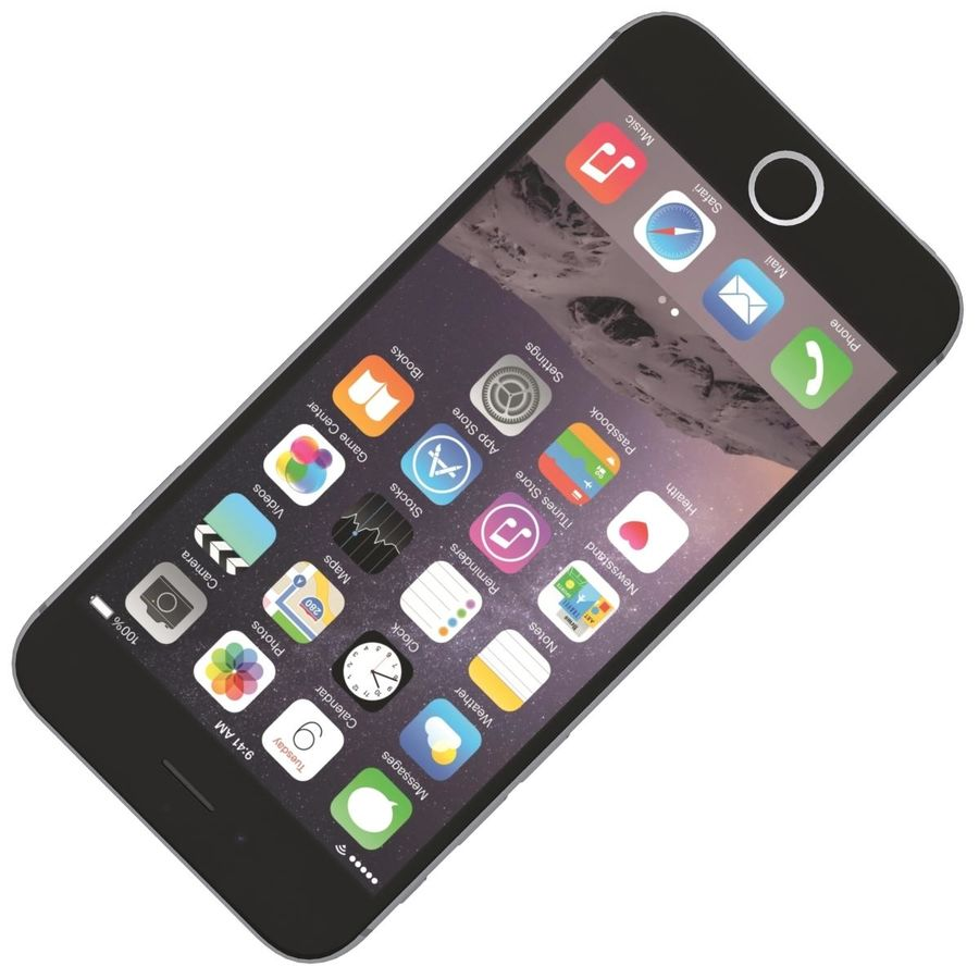 Apple iPhone 6s Space Gray royalty-free 3d model - Preview no. 18