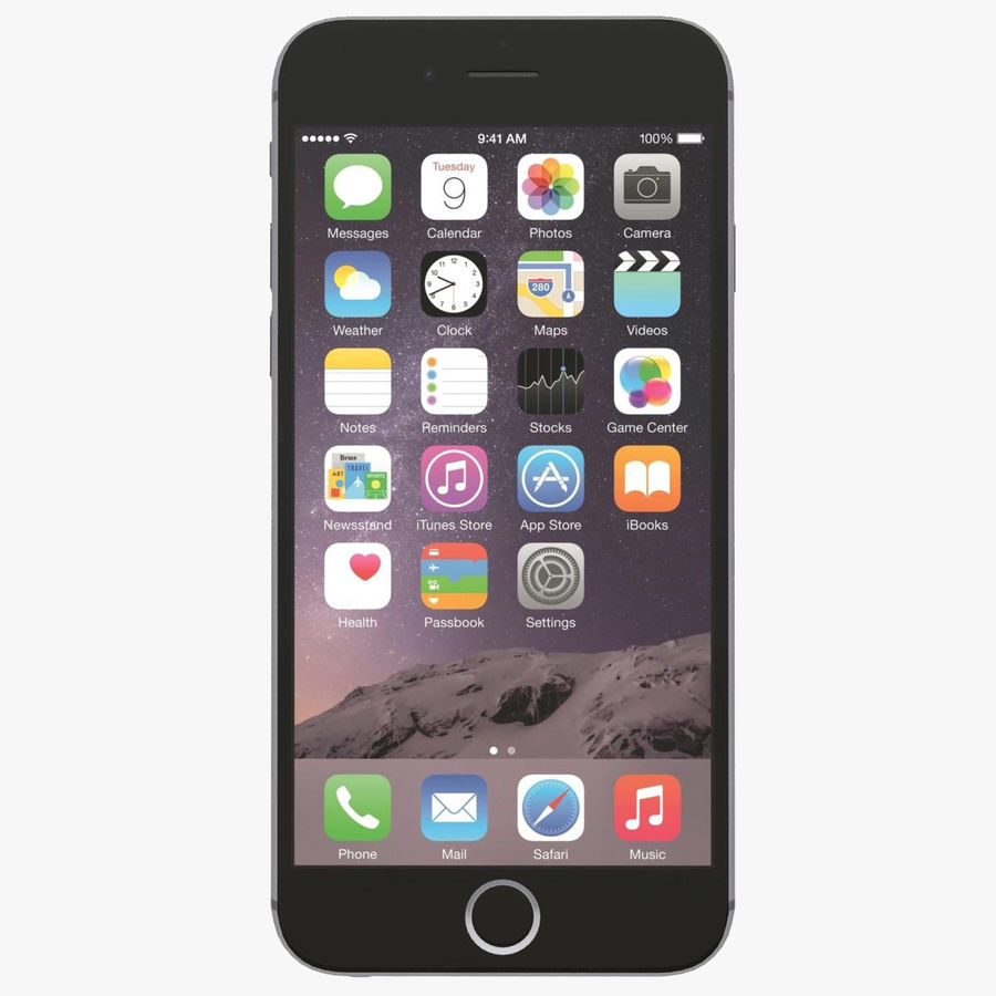 Apple iPhone 6s Space Gray royalty-free 3d model - Preview no. 1