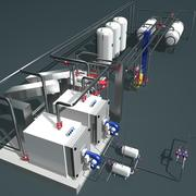 Industrieller Heizungsraum 3d model