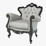 巴洛克翼椅子 3d model