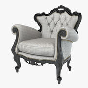 Fauteuil baroque 3d model