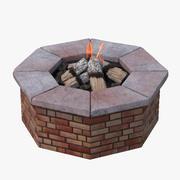 Brick Fire Pit 3d model