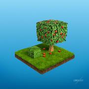 Ogród kostki 3d model