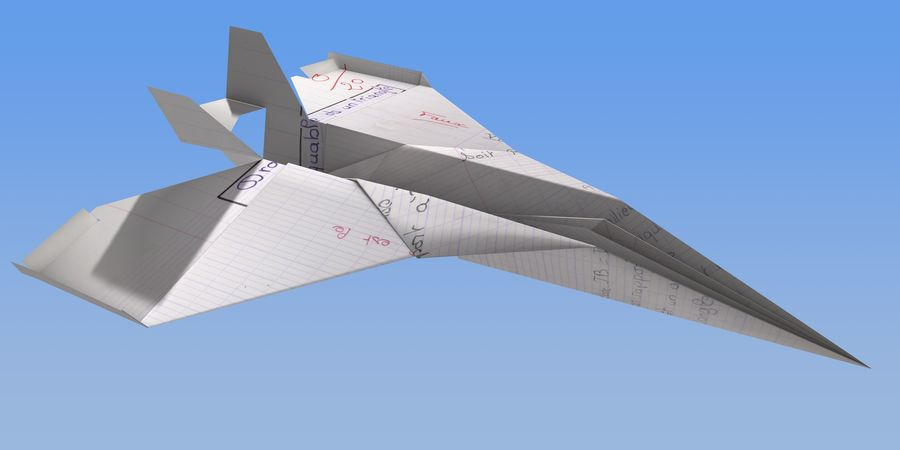 Avião de papel royalty-free 3d model - Preview no. 2