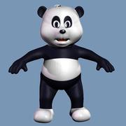 panda bear cartoon Kid 3d model