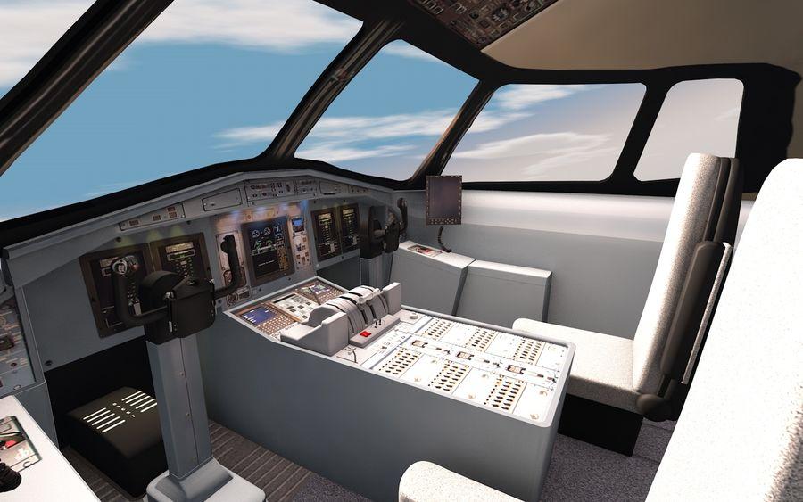 Cockpit d'avion royalty-free 3d model - Preview no. 3
