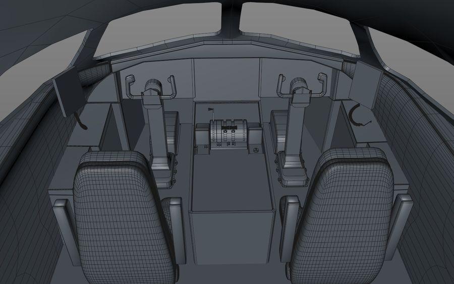 Cockpit d'avion royalty-free 3d model - Preview no. 9