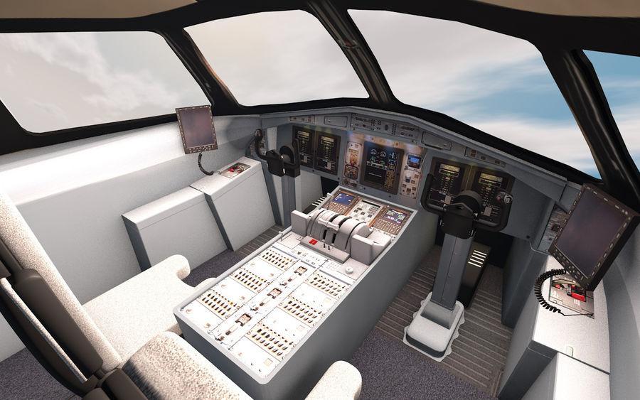 Cockpit d'avion royalty-free 3d model - Preview no. 7