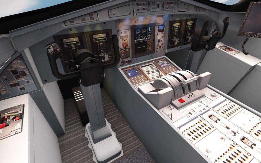 Cockpit d'avion royalty-free 3d model - Preview no. 6