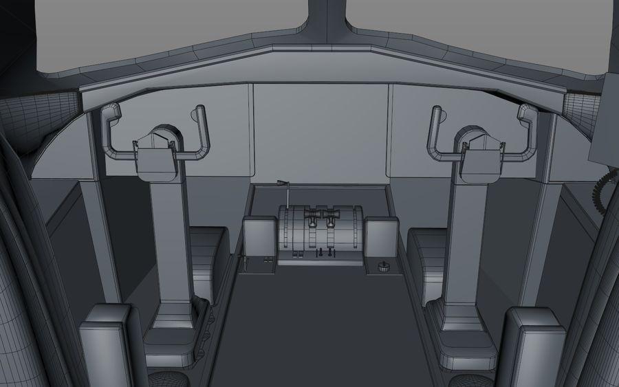 Cockpit d'avion royalty-free 3d model - Preview no. 10