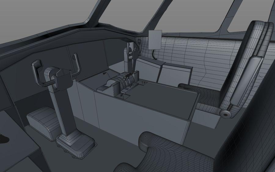 Cockpit d'avion royalty-free 3d model - Preview no. 13