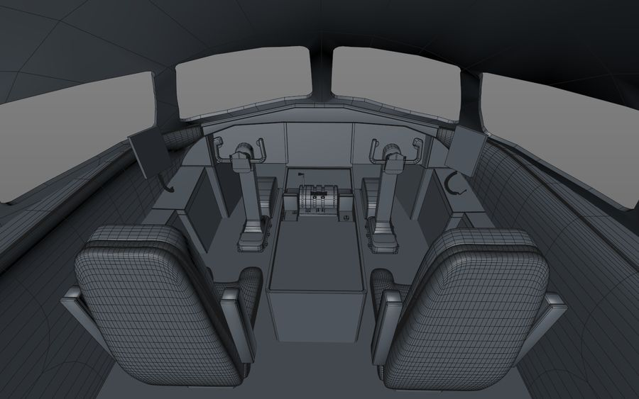 Cockpit d'avion royalty-free 3d model - Preview no. 11