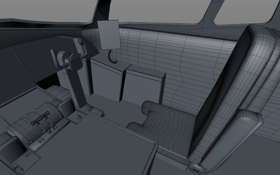 Cockpit d'avion royalty-free 3d model - Preview no. 16