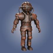 Viejo traje de buceo modelo 3d