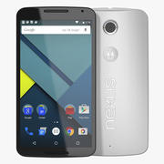 Google Nexus 6 White 3d model