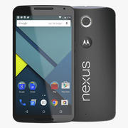 Google Nexus 6 Black 3d model