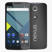 Google Nexus 6 nero 3d model