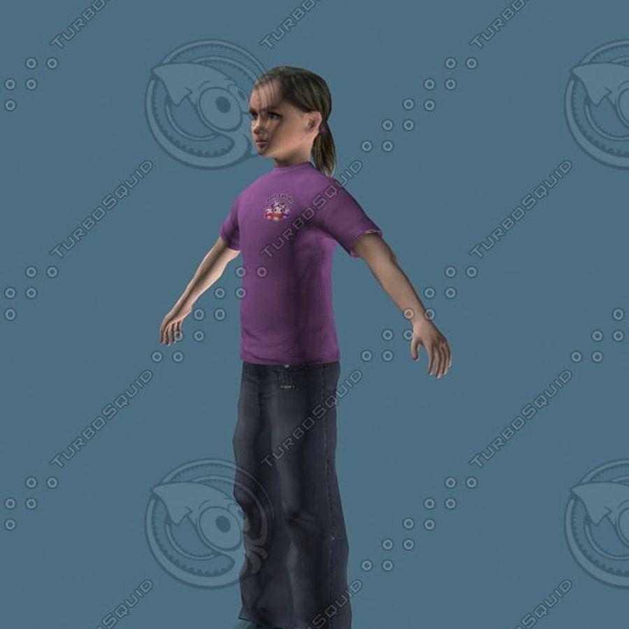 Menina de 12 anos (alta poli) royalty-free 3d model - Preview no. 5